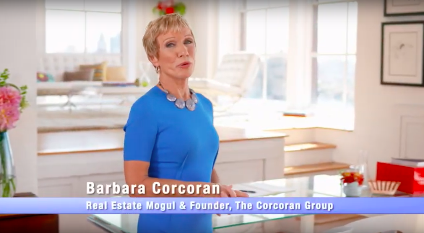 Shark Tank Barbara Corcoran and Brad Schmett